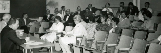 One of the College's First All-Employee Meetings